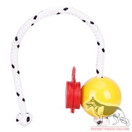 Palla magnetica gialla Fun-Ball Mini SOFT con clip rossa