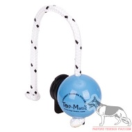 Set magnetico Fun-Ball SOFT Blue palla diam.6,8 cm e clip nera